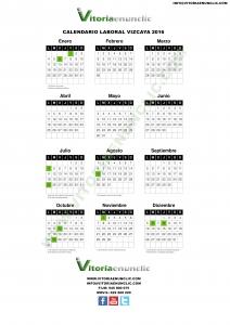Calendario laboral 2016 Bilbao Vizcaya