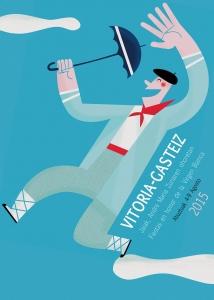 Cartel Fiestas de la Blanca Vitoria-Gasteiz 2015 Vitoria en un Clic